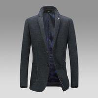 yünlü kumaş palto toptan satış-Pop2019 Erkek Kendini yetiştirme erkek Boş Zaman İş Işleri Yün Ağır Yünlü Bez erkek Takım Elbise Gevşek Ceket