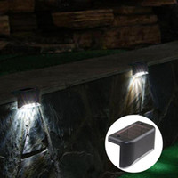 Wholesale white panel lamp leds resale online - 3 LEDs Solar Panel lights Outdoor Fence garden Pathway Wall Light Waterproof Railing stair Step Lamp