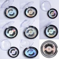 extensão de cílios de seda venda por atacado-Mink Lashes 3D Proteína De Seda Mink Cílios Postiços Macio Natural Grosso Cílios Falsos Eye Lashes Maquiagem Extensão 28 Estilos Cílios em Estoque