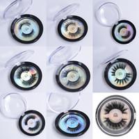 soie naturelle achat en gros de-Vison cils 3D Protéines de soie Vison Faux Cils Doux Naturel Faux Cils Cils Lèvres Extension de Maquillage 28 Styles Cils en Stock