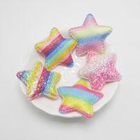 niña horquilla al por mayor-10 colores Glitter Love Heart Star Rainbow hecho a mano DIY Accesorios de joyería Accesorios Little Girl Material de la horquilla