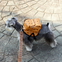 Wholesale female casual backpack resale online - Fashion Pet Dog Casual Backpacks Personality Printed Dog Cat Mini Bag Teddy Bulldog Schnauzer Outdoor Accessories