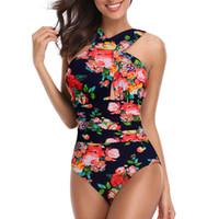 Wholesale swimwear big sizes online - Women Jumpsuits New Fashion big yards Large Size Pure cotton Swimwear Manufacturer Sexy Cross Size Designer Swimsuit Bikini