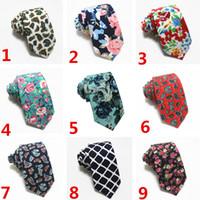 Wholesale multi color paisley tie resale online - Mens Designer Ties Multi Color Fashion Wedding color Business Floral Paisley Tie Neckties For Men Party Favor T1I1595