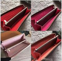 para çantası toptan satış-Uzun cüzdan En kaliteli orijinal deri klasik tasarımcı cüzdan moda deri uzun çanta para çanta fermuar kese para cebi not tasarımcı