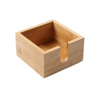 Wholesale Decoration Countertop Kitchen Toothpick Container Home Organizer Paper Holder Office Tissue Box Storage Bamboo Household