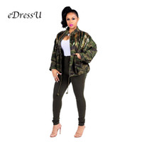 be929d4d7d650 2019 Women Camouflage Jacket splicing glitter Coat Eye-catching Casual  Daily Sparkle Glam Striped Nightclub Party Wear ME-Q160