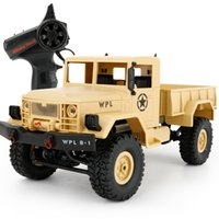 erkek çocuk oyuncakları kamyonlar toptan satış-Yeni Varış Wpl Wplb-1 Rc Askeri Kamyon 1: 16 2.4g 4wd Paletli Rc Araba Işık Rtr Ile Oyuncak Mini Off-Ragon Araba Hediye Erkek Çocuklar Için