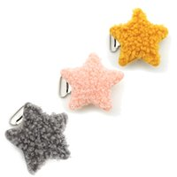 Wholesale cute pacifiers for babies for sale - Group buy 20pcs fabric plush lamp pacifier clip for baby mother accessory cute star nipple clasp holder chain infant SAFE winter EA427
