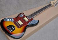 Wholesale left handed electric guitar oem resale online - OEM Custom Left Handed Sunset Color Electric Guitar with Rosewood Fretboard Humbuckers Pickups offering customized service