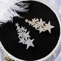 ingrosso le stelle dei capelli-AOMU Corea Women Shiny Strass Big Small Star Forcine Accessori per capelli per bambine Metal Gold Silver Hair Clips Hairgrip
