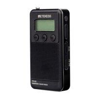 mw mp3 venda por atacado-Mini FM / MW / SW Pessoal de Rádio de Bolso Digital Tone Tuning MP3 Player Suporte Cartão TF