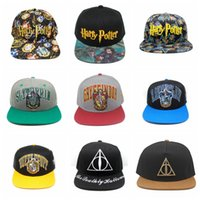 Wholesale snapback online - Harry Potter Hogwarts Baseball Hat Adult Cotton Ball Snapback Caps Adjustable Hip Hop Hats Boys Girls Cosplay Gift TTA779
