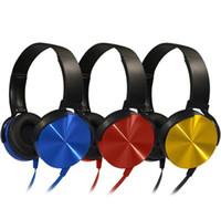 auriculares iphone hd al por mayor-Marca Gamer Headphone Auriculares con cable de colores Metal Heavy Bass Sound Auriculares Gamer para computadora profesional con micrófono HD para computadora