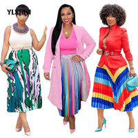vestido africano bazin venda por atacado-Vestidos africanos saia para as mulheres roupas africanas áfrica imprimir dashiki ladies clothing bazin riche dress plus size robe femme