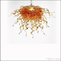 Wholesale kitchen factory outlet for sale - Group buy China Factory Outlet Murano Glass Chandelier Lightings Ceiling Decorative Blown Glass Chain Pendant Lamps for Kitchen Decor