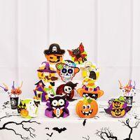 ingrosso i pattini forniscono i giocattoli-Halloween Party decorazione di Pasqua Giocattoli zucca fantasma di carta Candy Bag puntelli Fai da te casa fornisce il regalo ragazzo carino
