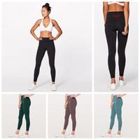 ingrosso pantaloni yoga per ragazze-Leggings skinny delle donne 6 colori sport palestra yoga pantaloni vita alta allenamento stretto yoga leggings ragazze pantaloni 20 pezzi OOA6330