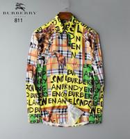 camisa henley hombres al por mayor-2020 ocio puro algodón cuello redondo camiseta azul Mostrar Solicitude Para el número Comercio Exterior Sleev largo hombres camiseta Henley Camisa de vestir BB-05