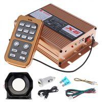 ingrosso sistema audio nuovo auto-Freeshipping Nuovo 12V 400W 8 Sound Loud Car Alarm Alarm Police Siren Horn Speaker con sistema MIC e telecomando senza fili