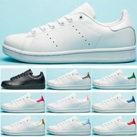 ingrosso scarpe fiore piatto bianco-Adidas Stan Smith Shoes Uomo Donna Stan Casual Scarpe Sneakers in pelle di alta qualità Triple White Flower Oro Zebra Smith Esterni Classic Size Eur36-45