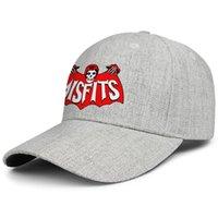 vintage cubo sombreros mujeres al por mayor-Misfits logotipo del cráneo del diseño del arte de los hombres de las mujeres del sombrero del Snapback ajustable del camionero Cubo sombrero de la vendimia de la pesca al aire libre gris