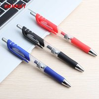 Wholesale red promotional plastic pens for sale - Group buy 3pcs Promotional Gel Pen plastic Pens mm red blue black ink colors for School Office Writing