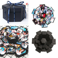 Wholesale photo album gift boxes resale online - Our Warm DIY Surprise Love Explosion Box Gift Explosion for Anniversary Scrapbook DIY Memory Scrapbook Photo Album birthday Gift