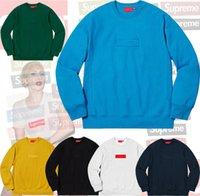 lagerboxen zum verkauf großhandel-auf Lager! top Mode heißer Verkauf! klassiker 2019FW UNHS Oansatz Box Logo Crewneck hoodie uinonhouse streetwear BOGO 8colors kostenloser versand