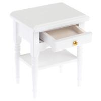 moderna mesa de madeira venda por atacado-Doll House Cabeceira Armário Bonecas Mini Móveis Modernos Night Table 1:12 Escala Casa De Bonecas De Madeira Em Miniatura