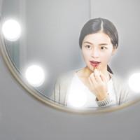 espelhos de maquiagem rosa de plástico venda por atacado-New Maquiagem Espelho Vanity Lâmpadas LED Kit espelho de maquilhagem Bulb ajustável USB Brilho Luzes de carregamento Porto Cosmetic Lighted