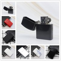 Wholesale lighters can for sale - Group buy Newest Fire Retro Metal Black Frosted Cigarette Lighter Smoking Fuel Refillable Lighters Cigarette Tools colors can choose