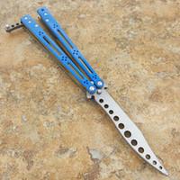 cuchillo bm47 al por mayor-El G10 Hom Snake Monster Práctica Hoja (Azul Naranja) BM40 BM41 BM42 BM43 Bm46 BM47 BM49 Cuchillo de caza salvaje para caza de camping