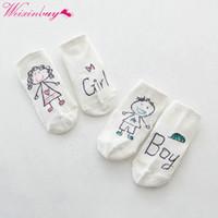 ingrosso calzini in cotone infantile-1Pair Girl Boy Morbido antiscivolo Boot Cuff Slippers Socks Baby Infant Kids Foot Calzino hot new