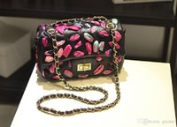 Wholesale flower coolers resale online - Brand design brand package cool style color flower woman chain bag Xiaoxiang wind Leather Shoulder Bag Fashion stereo flower bag
