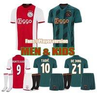kits de ventiladores al por mayor-de calidad superior 2019 20 Ajax FC Fútbol niños kits de 19/20 Camisa TADIC Huntelaar ventiladores VEN De Beek Player versión camisas del fútbol de los hombres