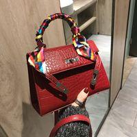 timsah derisi bayan çantası toptan satış-2019 Kadınlar Için Crossbody Çanta Deri Lüks Çanta Ünlü Tasarımcı Marka Timsah Omuz Çantası Bayanlar