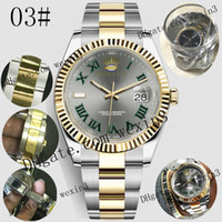 Wholesale 17 Colors Datejust K Gold Mens Luxury Watch mm Waterproof Watches Men Mechanical Automatic President Desinger Jubilee Band