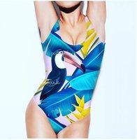 Wholesale swimwear beach wear for ladies for sale - 2019 New Sexy Backless Bikinis Swimwear One Piece Monokini Swimsuit for Women Print Swimming Bodysuits Bathing Suits Lady Beach Swim Wear