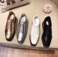 oxfords kesmek toptan satış-YENI Stella Mccartney Bayan Dana Derisi Hakiki Deri Platformu Rahat Ayakkabılar Cut-çıkışları Yıldız Oxfords Çizgili Kama Elyse Dantel-up Sneaker