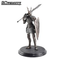Wholesale figure warriors resale online - Game Dark Souls Warrior Black Knight Big Sword Shield Top Games PVC Ation Figure Model Collectible Toys cm