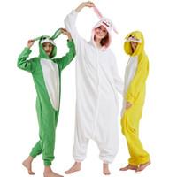 halloween kostüme männer lustig großhandel-Lustige Kaninchen Onesie Für Erwachsene Kigurumi Für Frauen Winter Pyjamas Tier Pijamas Kostüm Halloween Party Nachtwäsche Für Männer