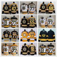ingrosso vecchi pullover di hockey ccm-Maglia vintage CCM 75th Boston Bruins 77 Ray Bourque Jersey Hockey Old RD 91 Marc Savard 68 Jaromir Jagr Johnny Boychuk Torey Krug Maglie