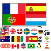caja de tv android brazo al por mayor-Suscripción 6000 en vivo 8000 VOD 6 meses 1 año Cuenta Italia Francia España Portugal Alemania EE.UU. Canadá para Android M3U Smart TV