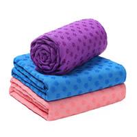 toalheiro venda por atacado-Hot 72 * 24 polegadas Não Deslizamento Yoga Toalha Sweat Absorvente-Fácil Cobertores De Limpeza Esporte Exercício Yoga Pilates Esteira Fácil Portátil
