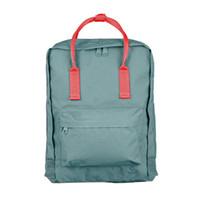 Wholesale girls new college bags resale online - Men New Brand Backpack School Bag Girls double shoulder Women Canvas Lovers Leisure Travel Bag Many Color