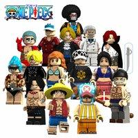 ingrosso un pezzo mini figure-ONE PIECE Figure 15PCS / LOT Blocks Mini Figure Giocattoli MOC ABS Mattoni da costruzione Migliori regali per bambini
