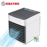 ingrosso case meccaniche-KBAYBO USB Aria condizionata Fan Mini Air Cooler Refrigerazione Mobile condizionatore portatile con 7 colori a LED per la casa