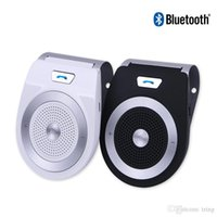 Wholesale car kit multipoint bluetooth handsfree speakerphone resale online - Bluetooth Car Kit Handsfree Noise Cancelling Bluetooth V4 Receiver Car Speakerphone Multipoint Clip Sun Visor T821 YET PR06