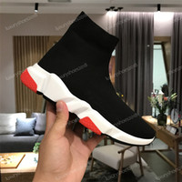 Wholesale gold toe cotton socks resale online - 2019 Casual Sock Shoes Speed Trainer Black Red Triple Black Fashion Socks Boots Sneaker Trainer Shoes